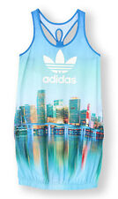 SIZE 14 MEDIUM - LIMITED EDITION - ADIDAS ORIGINALS NEW YORK WOMENS DRESS MULTI