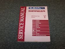 2005 Subaru Impreza Shop Service Repair Manual Section 6 Chassis RS TS 2.5L