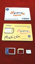 Telcel Mexico Prepaid SIM Card FREE SHIPPING  TO ALL WORLD