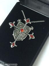 Masonic Knights Templar Shield Cross Pendant & Chain Jerusalem Cross Talisman