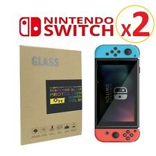 2x Nintendo Switch Premium Tempered Glass Screen Protector 9H Thin Glass NEW