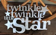 "Twinkle Twinkle Little Star Metal Wall Art Decor 17"" x 12"""