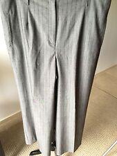 JONES NEW YORK Gray Stretch Pinstripe Wide Leg Women's Pant Size 16 EUC