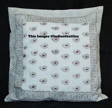 New Indian Cotton Cushion Pillow Cover Decorative Home Decor Hand Block Print