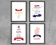 The greatest Showman Prints (set of 4) Home decor bedroom decor quotes colour