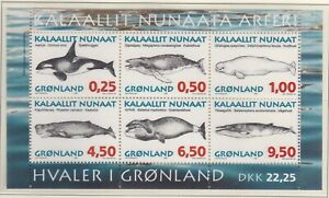 GLD057) Greenland 1996, M/S, Whales, MUH