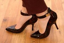 tortoiseshell patent Mary Jane heels MODA IN PELLE size 6