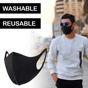 Face Masks Reusable Washable Stretchy Black Brand New Sealed Multi Buy
