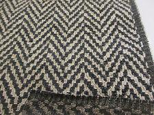 "Grey ""Boho Chevron Charcoal New""  Heavy Upholstery Fabric. By NEXT"