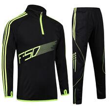 Kids Men Tracksuits Football Kits Soccer Jerseys Set Boys Football Training Suit