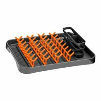 Premier Housewares Dish Drainer, Grey/Orange