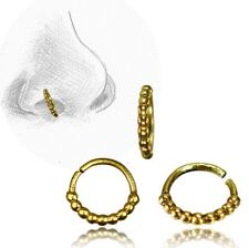 20G TRIBAL ORNATE BRASS NOSE RING 7MM RING NOSE STUD HELIX EAR HOOP TRAGUS