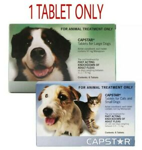 Capstar Flea Tablets for Dogs & Cats - Oral Flea Treatment 1 TABLET Only