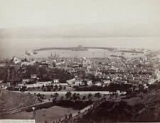 OLD LARGE PHOTO Panorama Of Messina