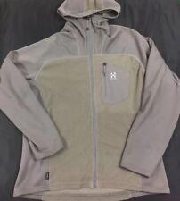 Haglofs Polartec Hooded Full Zip Skiing Jacket Men's SZ 2XL Light Brown