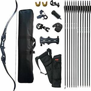 Bogenschießen D&Q Takedown Recurve Pfeil Bogen Set Erwachsene Kit Jagd Schießen