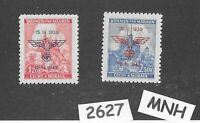 #2627   MNH Stamp set / Overprint 1939-1942 Anniversary  WWII Occupation of  BaM