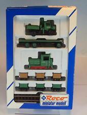Roco H0e No. 1599 Schwarzbau Loren - Zug mit Mercedes Unimog OVP #680