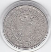 1893    Older  (Veiled)  Head  Half  Crown  (2/6d) -  92.5%  Silver  Coin