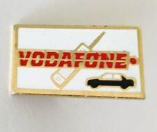 Vodafone Mobile Network Car Auto Advertising Pin Badge Vintage Rare (J2)
