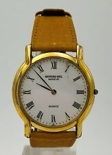 Raymond Weil Geneve Tan Leather Strap Vintage 32mm Quartz White Dial Watch