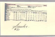 Cincinnati Reds JAN GRANADO autograph 3x5 card - minors