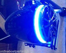"""BLUE LED SPEAKER RING- BOAT SPEAKER MOUNTS ON TOP- WORKS W/ MOST 6 1/2"""" SPEAKER"""