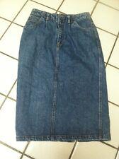 BILL BLASS Western Style 3 Pocket Front Pleat Long Dark Denim  Skirt_Misses 12
