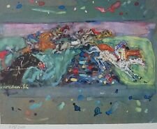 Constantin Terechkovitch Jumping the river tribune SIGNED HAND NUMBERED  LITHO