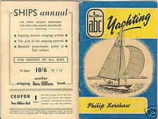 Ian Allen1950s  YACHTING YachtTypes like Train Spotting