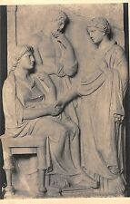 BR70963 postcard athens musee national relief funeraire attique greece sculpture