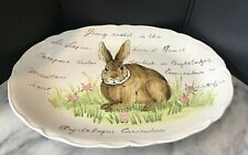 Maxcera Bunny Oval Serving Platter