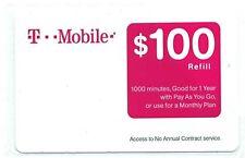 T-MOBILE $100 PREPAID REFILL CARD