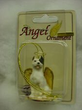 Pitbull dog Angel Ornament Figurine Statue New Christmas white puppy Pit Bull K9