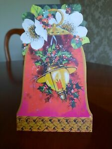 Vintage Christmas Card Used