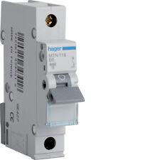 HAGER CONSUMER UNIT SP MCB CIRCUIT BREAKER MTN116 16A 16 AMP