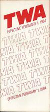 TWA system timetable 2/1/84 [308TW] Buy 2 Get 1 Free