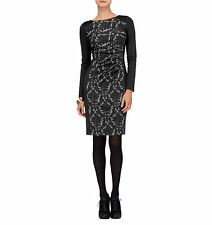 Phase Eight Illusion Dawn Lace Black Ponte Jersey Pencil Dress Size 14 Worn Once