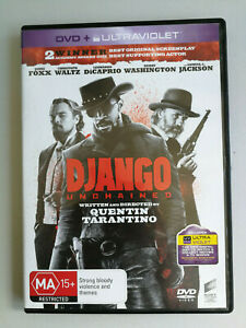 Django Unchained DVD Jamie Foxx and Leonardo DiCaprio MA15+Tarantino Classic