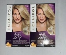 2 pk Clairol AGE DEFY HAIR COLORING KIT, 9A, Light Ash Blonde Color New in Box