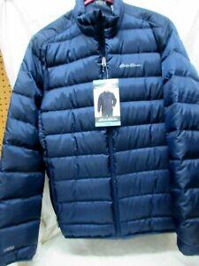 Eddie Bauer Microlight II Packable Jacket Navy Men's Sz L New NWT