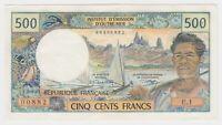 French Polynesia Tahiti Papeete 500 Francs 1970 P25 AU Beautiful Banknote Bill