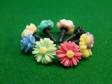 Phone charm Dust Plug 9 Pieces Assorted Flowers 3.5mm Iphone MP3 MP4 etc.