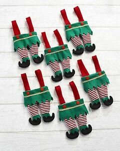 Set of 6 Christmas / Holiday Elf Treat Bags for Small Items or Candy