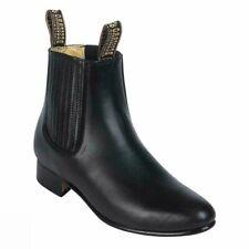 Besserro Charro Boot, Genuine Leather, Leather Sole, Color Negro, Style 700