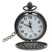 Herren Damen Taschenuhr Quarzuhr Kette Uhr Kettenuhr Umhaengeuhr Klassisch E7N6