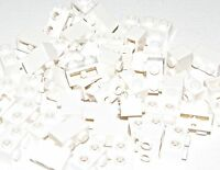 Lego Lot of 50 New Rare White Bricks Modified 1 x 2 with Studs on 1 Side Parts