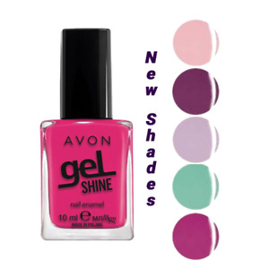Avon Gel Shine Nail Varnish Current & Discontinued Colours New