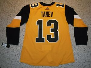 BRANDON TANEV  AUTHENTIC PITTSBURGH PENGUINS JERSEY ADIDAS AUTHENTIC SIZE 50