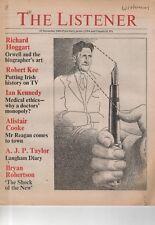 THE LISTENER (27 November 1980) EDWARD SEAGER - ROBERT KEE - REAGAN - ORWELL